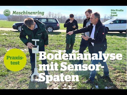 Maschinenring Oberösterreich testet den neuen Bodenanalyse-Sensorspaten von Stenon