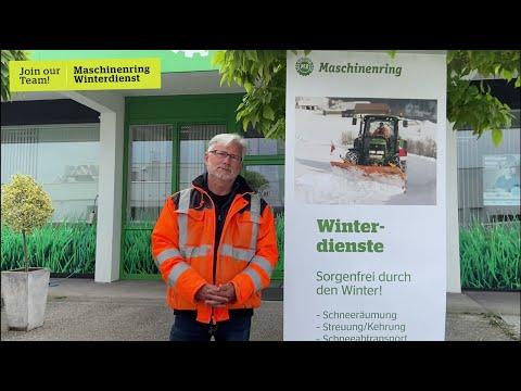 Bernd, warum machst du gerne Winterdienst beim Maschinenring?