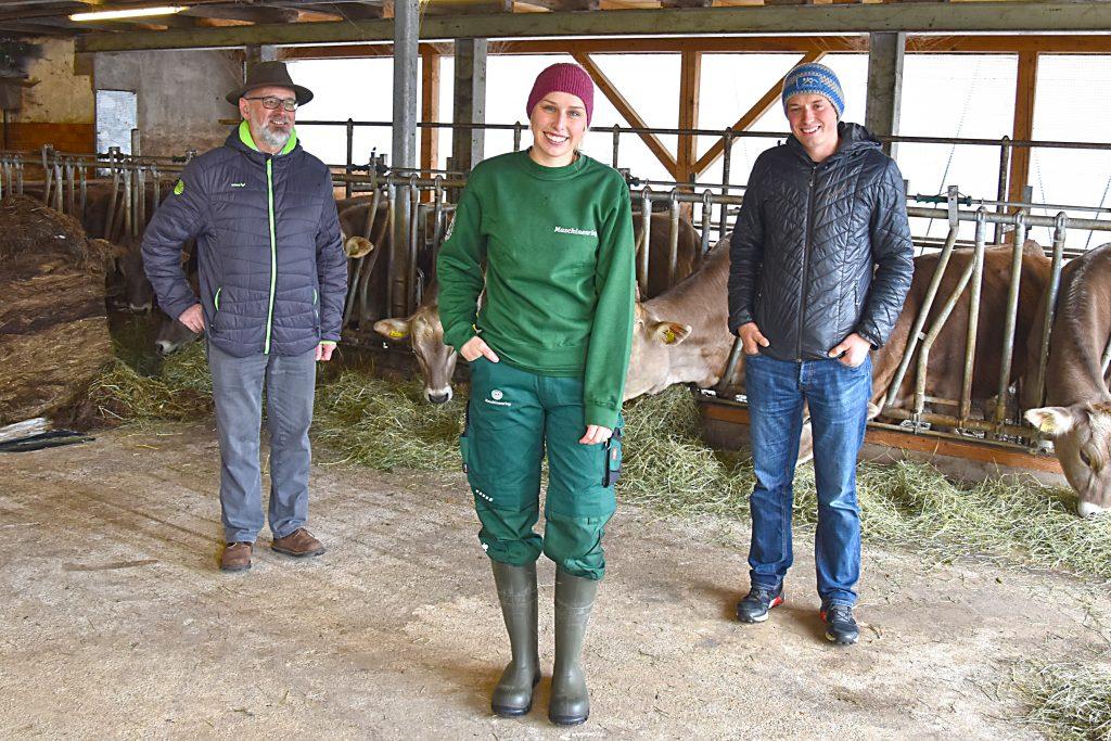 Gottfried Straßmayr, Betriebshelferin Anna Rebhandl und Matthias Gösweiner vom Maschinenring Pyhrn-Eisenwurzen