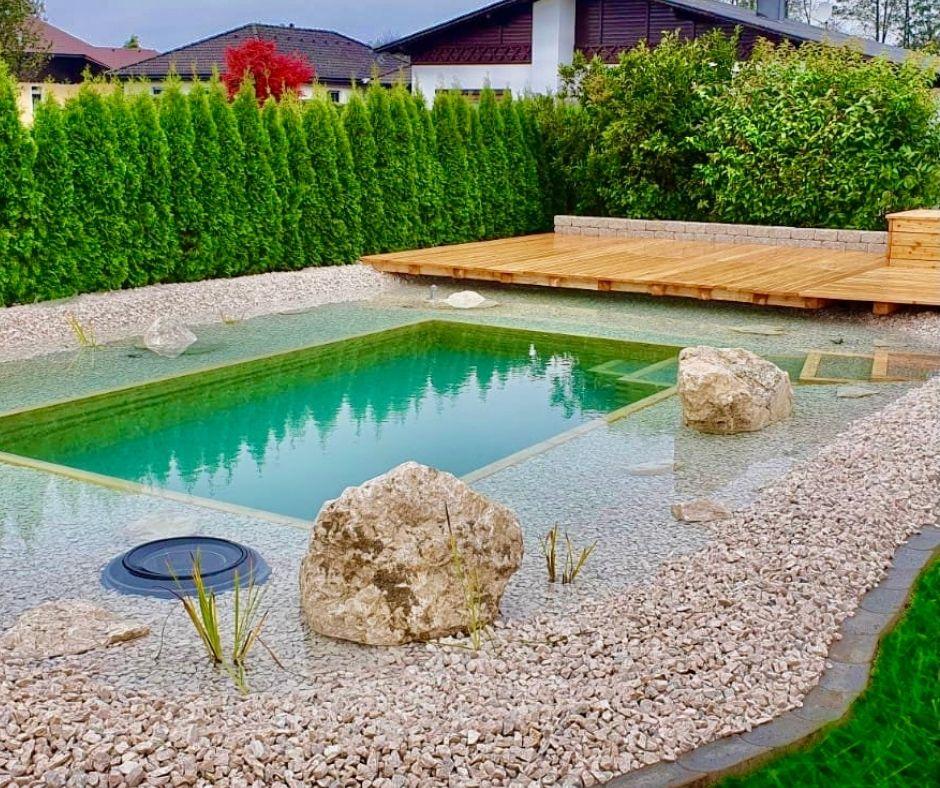 Schwimmteich - modern und pflegeleicht